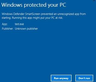 Disable SmartScreen Defender in Windows 10