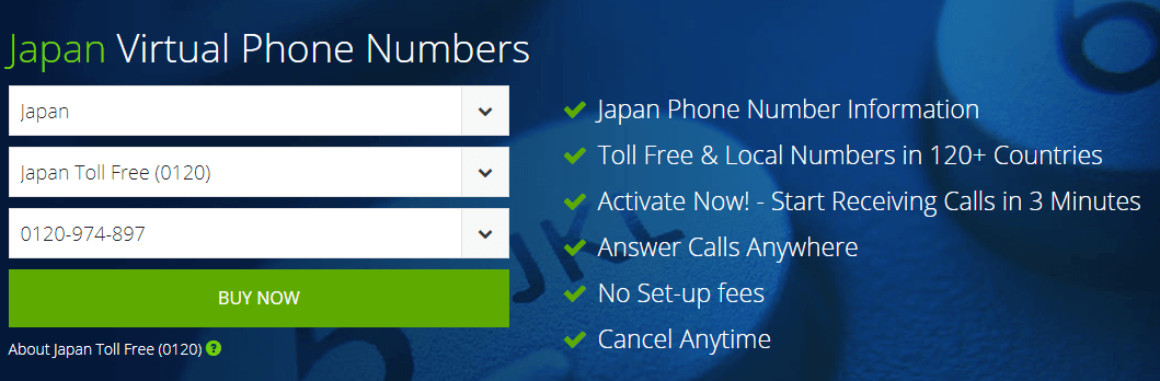 receive SMS online japan