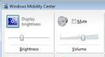 Through Windows Mobility Center