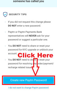 How To Change / Reset Paytm Account Password (Forget Paytm Password) 9