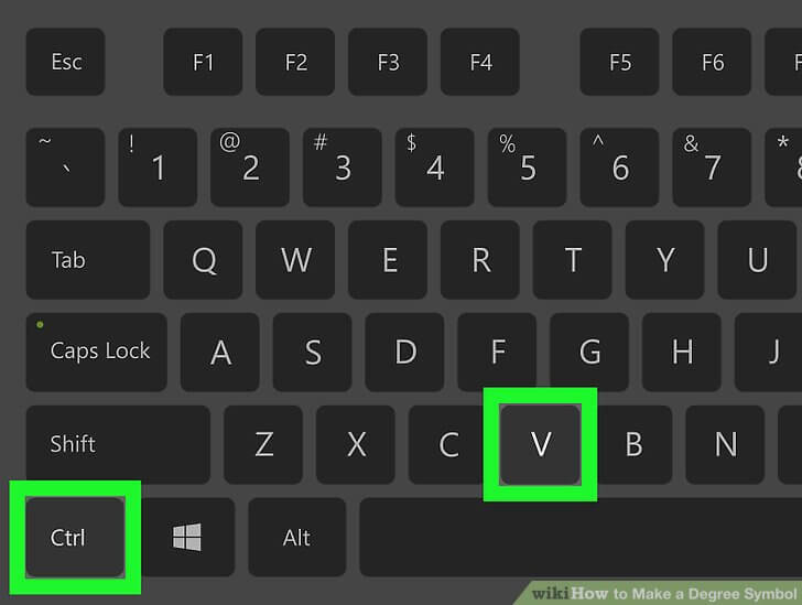 How To Make a Degree Symbol Only Once in Windows