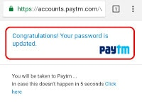 Reset Paytm Account Password