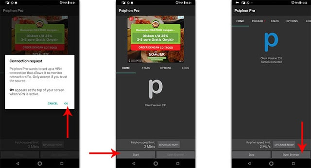 How to use Psiphon on Android