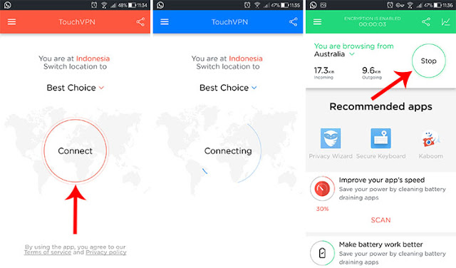 How to Open a Positive Internet With Touch VPN