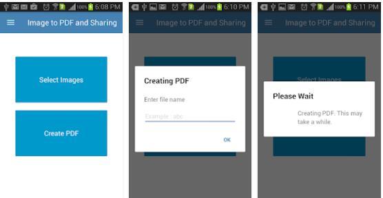 Image to PDF and Sharing Starting