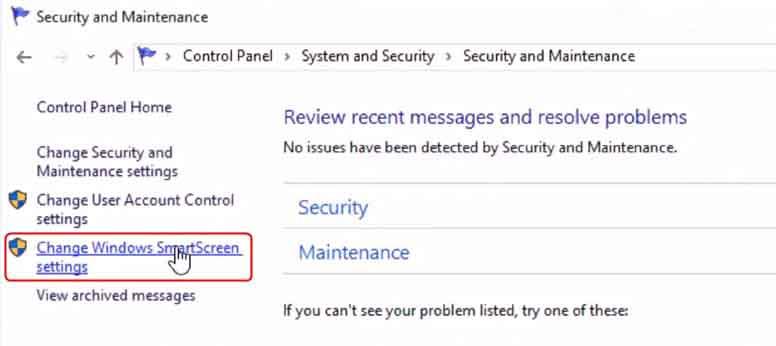 Disabling SmartScreen Filter in Windows 10