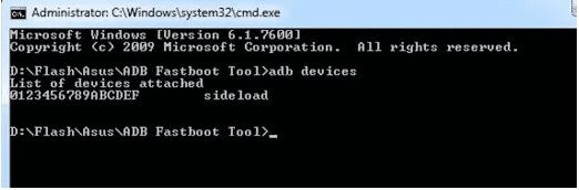 Flash Asus Zenfone 5 via ADB Fastboot