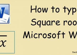 How to Make Square Root Symbol in MS Word