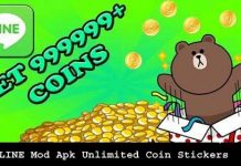 Download LINE Mod Apk Unlimited Coin Stickers