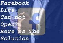 Why Facebook Lite Can not Open Here Is The Solution
