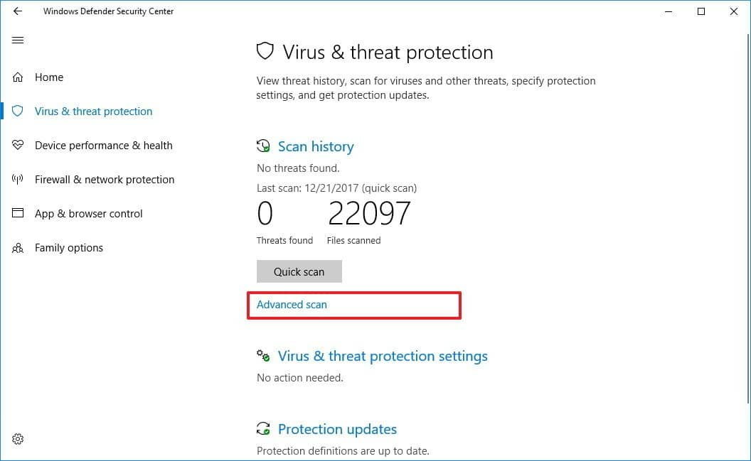Perform malware checking