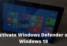 How to Activate Windows Defender on Windows 10