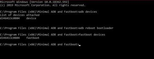 fastboot devices