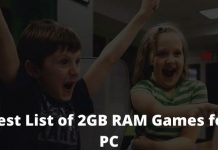 20 Best List of 2GB RAM Games for PC Great Graphics!