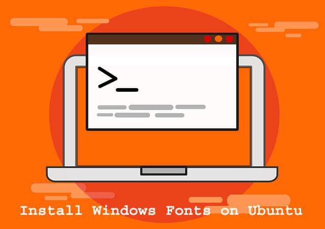 Install Windows Fonts on Ubuntu