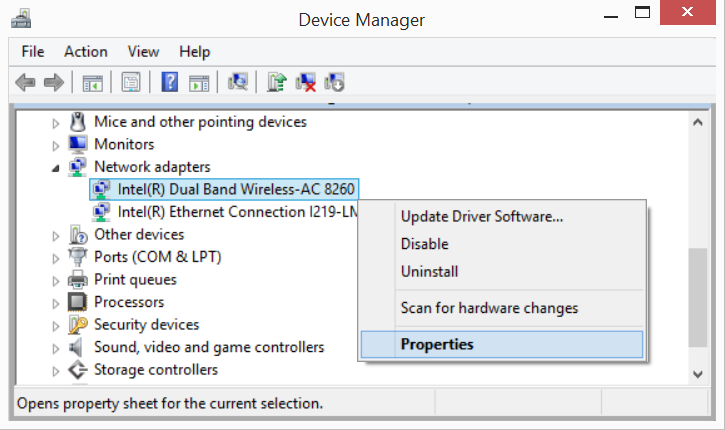 Reinstall the WiFi driver on the laptop