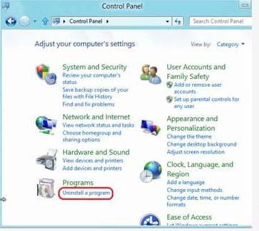 Uninstall Chromium Windows 8
