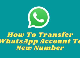How To Transfer WhatsApp Account To New Number