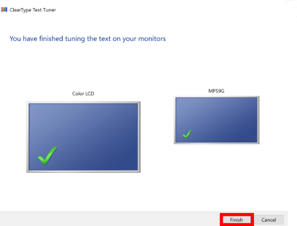 Continue to the second monitor