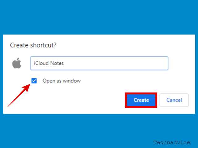 Give the shortcut a name as you wish