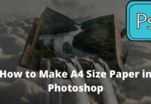 How to Make A4 Size Paper in Photoshop