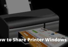How to Share Printer Windows 10