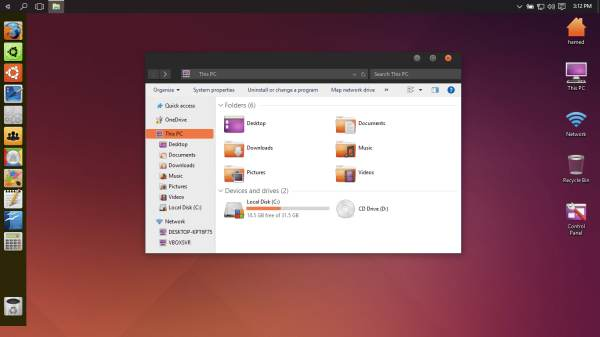 Linux Theme For Windows 10 - Ubuntu SkinPack
