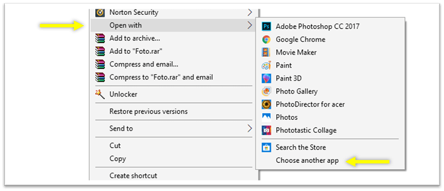 Open Photos with Windows Photo Viewer