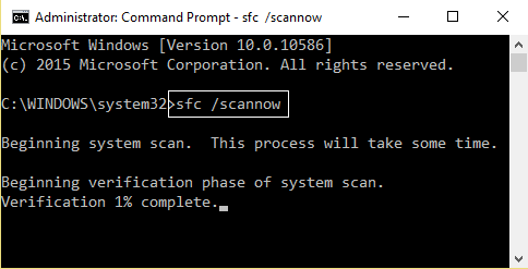 SFC scan now command prompt 4