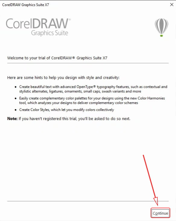 how to install corel draw x7 11