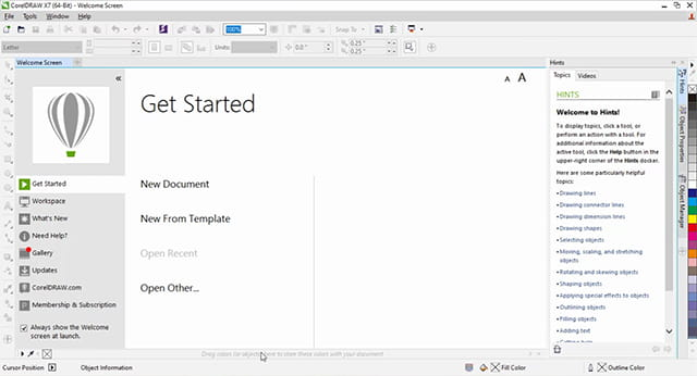 how to install corel draw x7 18
