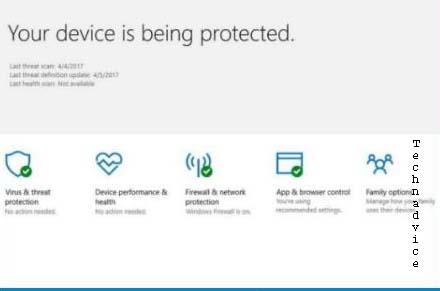 Antivirus Windows Security