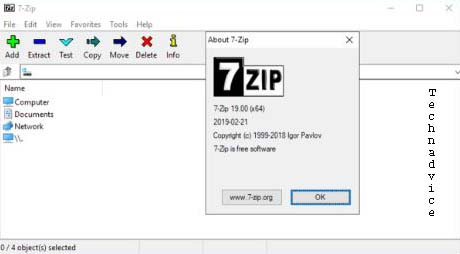 Archiver file 7zip