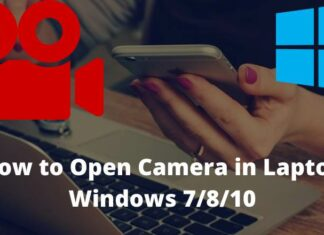 How to Open Camera in Laptop Windows