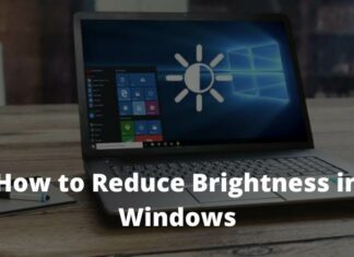 How to Reduce Brightness in Windows 7810