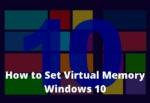 How to Set Virtual Memory Windows 10
