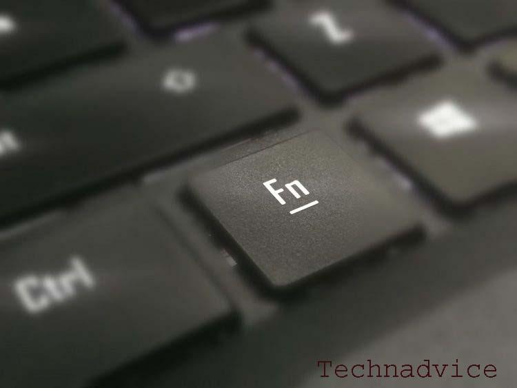 Make use of the Fn Key + Brightness Symbol