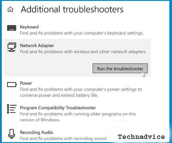 Run the Network Troubleshooter 3