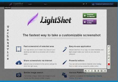 Screenshot LightShot