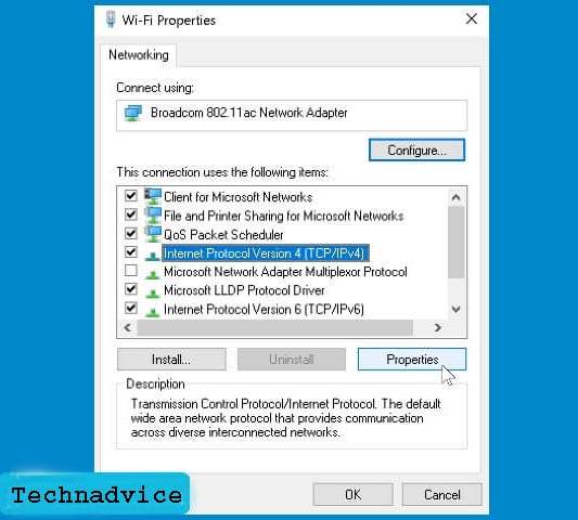 Set IP Address and DNS to automatic mode 1