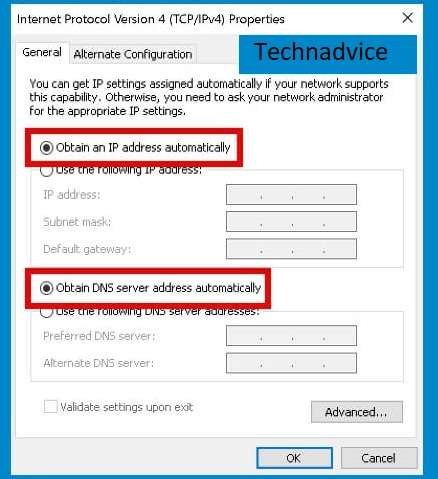 Use IP Address and automatic DNS