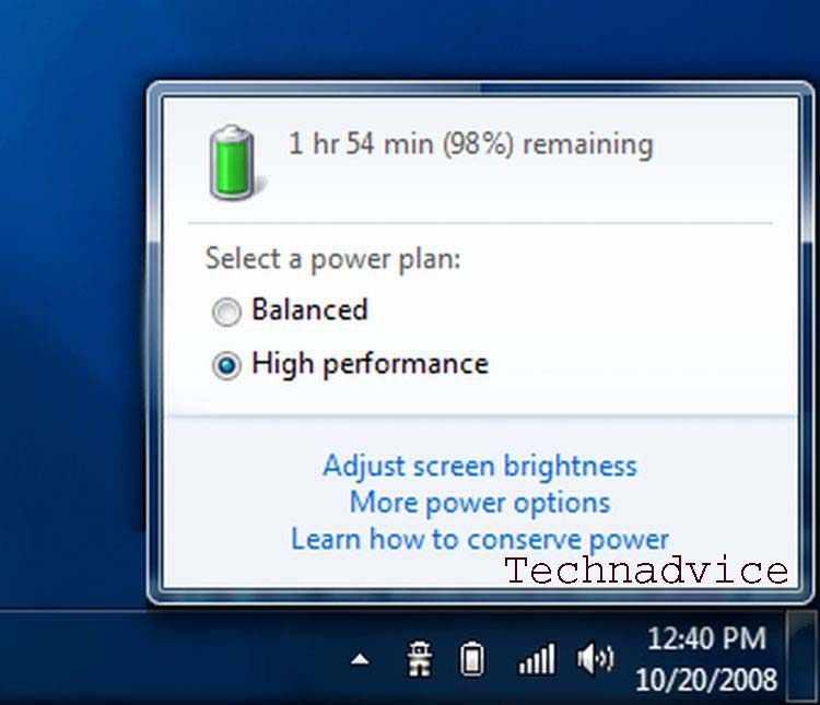 Windows 7 slider