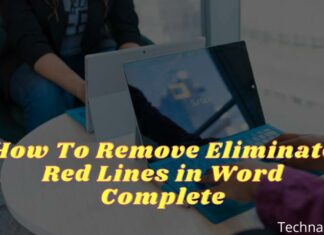 How To Remove Eliminate Red Lines in Word Complete