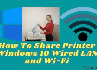 How To Share Printer Windows 10 Wired LAN and Wi-Fi