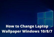 How to Change Laptop Wallpaper Windows 1087
