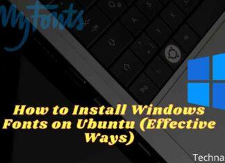 How to Install Windows Fonts on Ubuntu (Effective Ways)