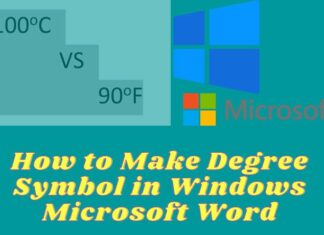 How to Make Degree Symbol in Windows Microsoft Word