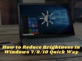 How to Reduce Brightness in Windows 7810 Quick Way