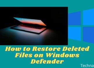How to Restore Deleted Files on Windows Defender
