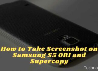 How to Take Screenshot on Samsung S5 ORI and Supercopy